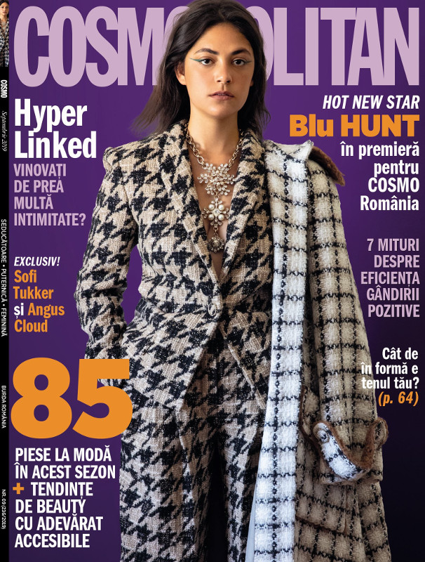 Cosmopolitan Magazine Romania ~~ Coperta: Blu Hunt ~~ Septembrie 2019