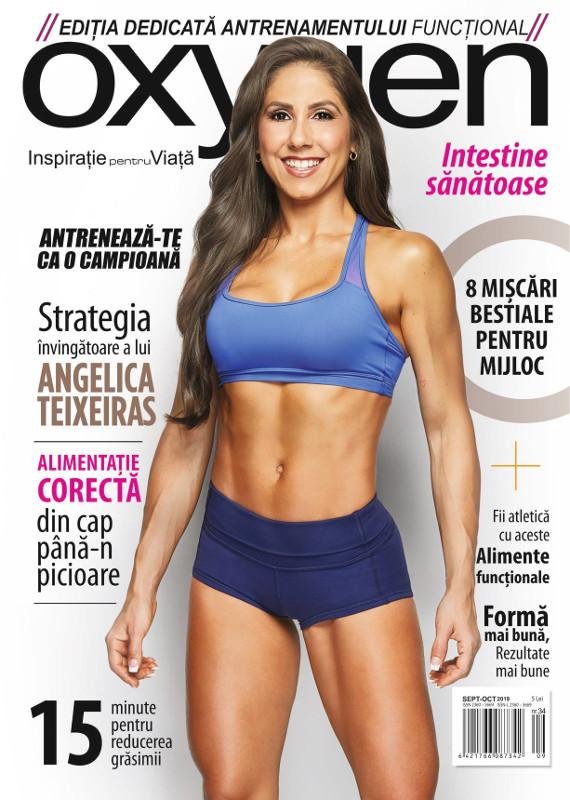 Oxygen Magazine Romania ~~ Coperta: Angelica Teixeiras ~~ Septembrie-Octombrie 2019