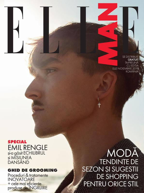 ELLE Man Magazine Romania ~~ Coperta: Emil Rengle ~~ Noiembrie 2019