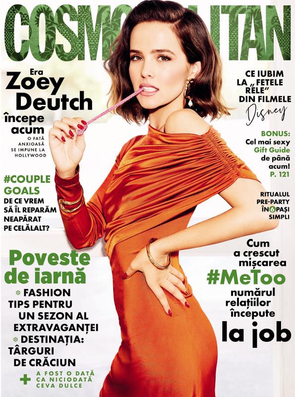 Cosmopolitan Magazine Romania ~~ Coperta: Zoey Deutch ~~ Decembrie 2019