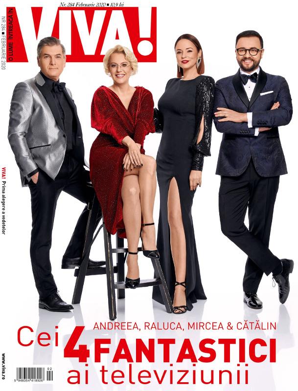 VIVA! ~~ Coperta: Andreea Marin, Raluca Moianu, Mircea Radu și Cătălin Măruță ~~ Februarie 2020
