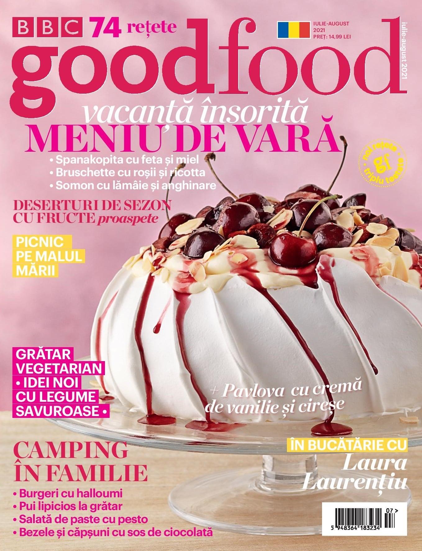 Good Food Magazine Romania ~~ Vacanta Insorita, Meniu de Vară ~~ Iulie-August 2021