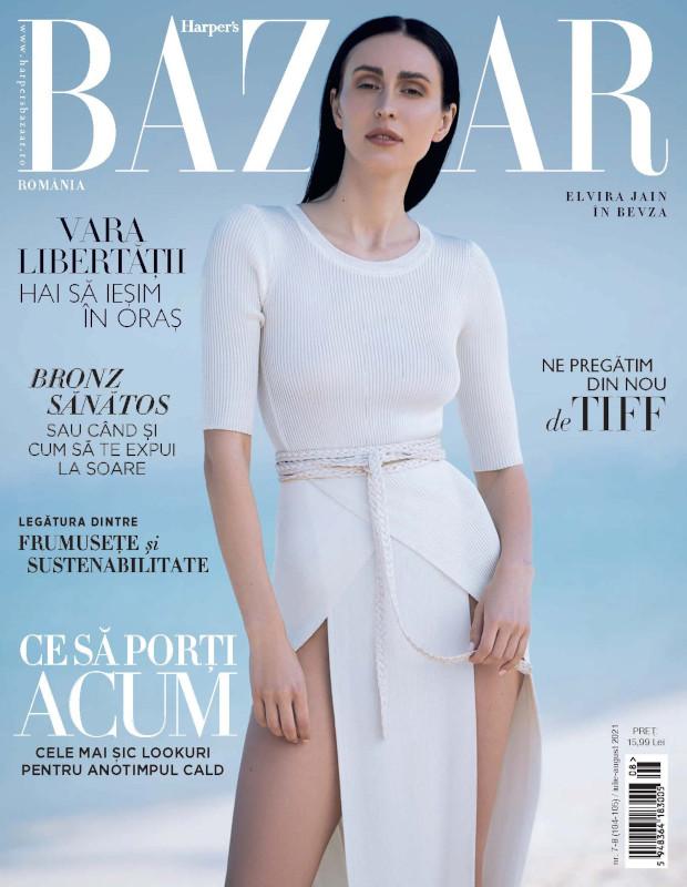 Harpers Bazaar Romania ~~  Coperta: Elvira Jain ~~ Iulie - August 2021