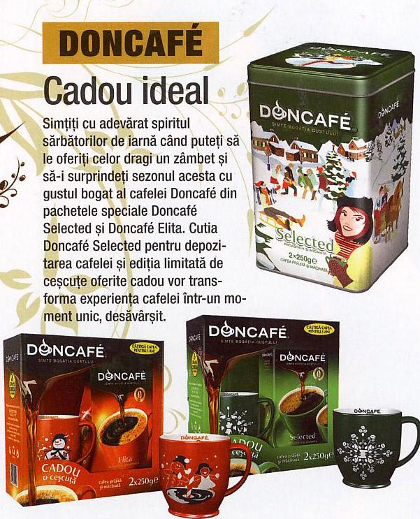 Doncafe ~~ Cescuta de cafea cu imprimeu de Craciun