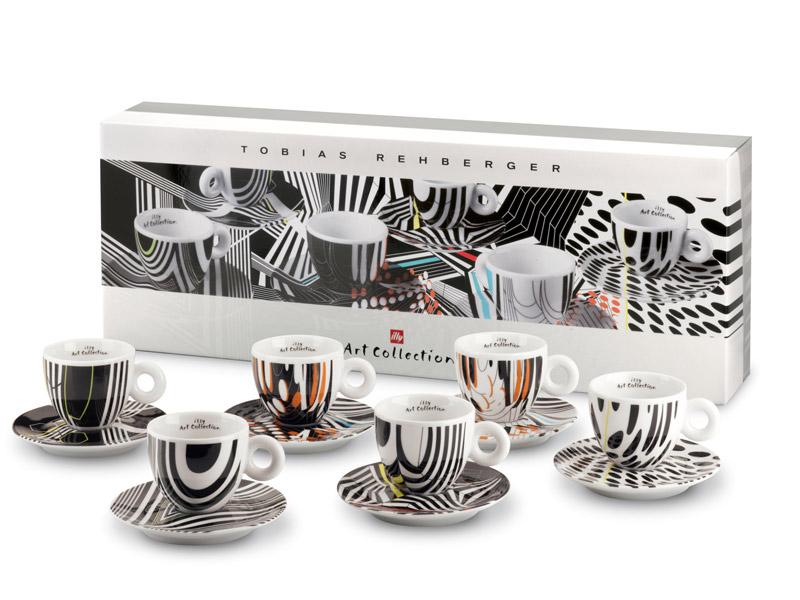Illy ~~ Setul de ceasti de cafea cu farfurioara Art Collection