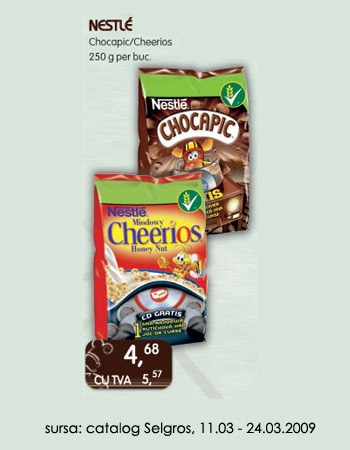 Cereale Nestle Cheerios si Chocapic