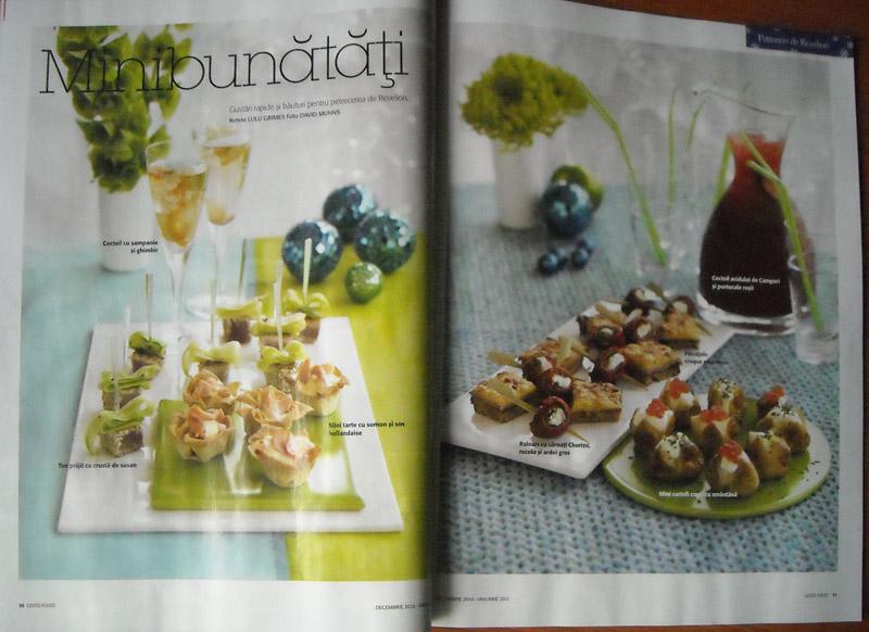 Good Food ~~ Minibunatati pentru masa de Revelion ~~ editia Decembrie 2010 - Ianuarie 2011