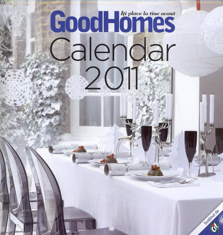 Good Homes ~~ Calendar 2011 ~~ Coperta fata