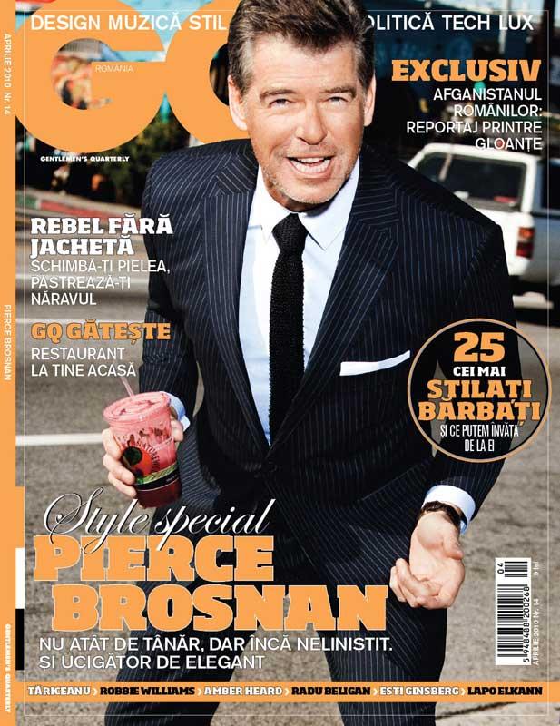 GQ Romania ~~ Style Special: Pierce Brosnan ~~ Aprilie 2010