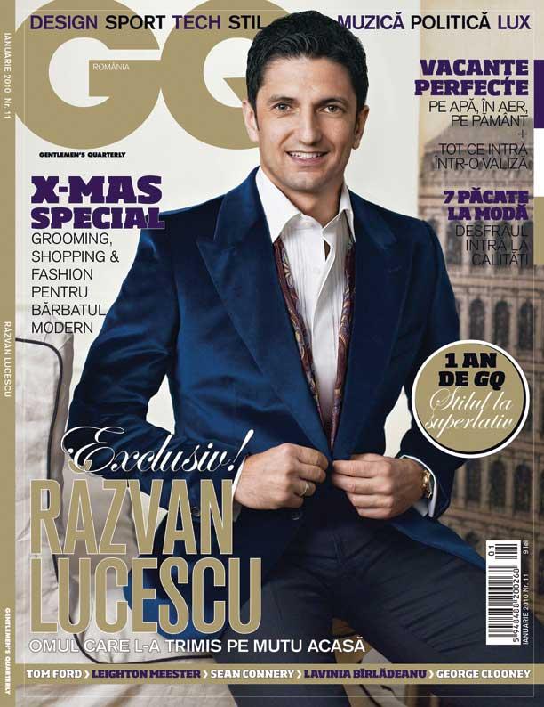 GQ Romania ~~ Razvan Lucescu ~~ Ianuarie 2010