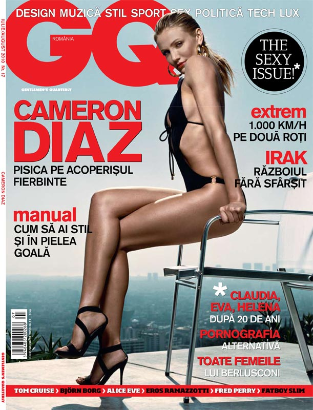 GQ Romania ~~ The Sexy Issue ~~ Cover: CAMERON DIAZ ~~ Iulie - August 2010
