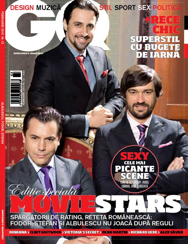 GQ Romania ~~ Editie Speciala MOVIE STARS ~~ Februarie 2010