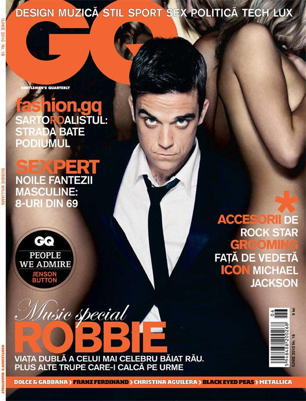 GQ Romania ~~ Cover: ROBBIE WILLIAMS ~~ Iunie 2010