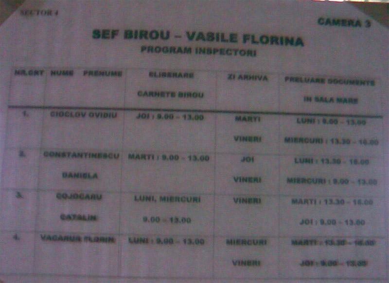 ITM Bucuresti ~~ Program Inspectori ~~ Sector 4 ~~ Camera 3
