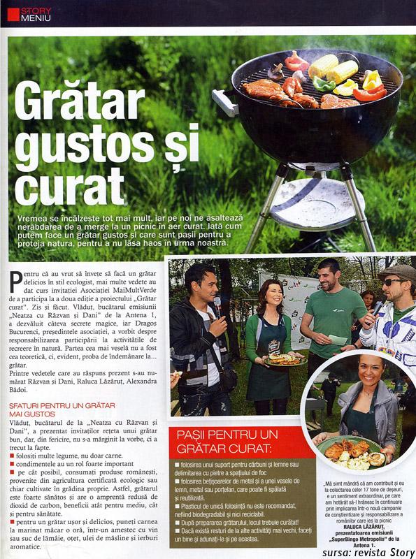 Gratar gustos si curat - articol din revista Story
