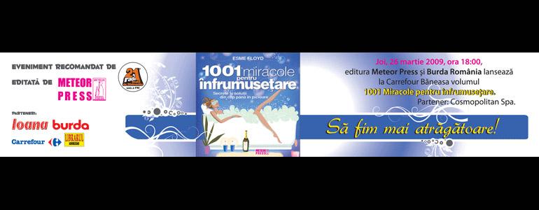 Promo lansare cartea 1001 miracole pentru infrumusetare, de Esme Floyd