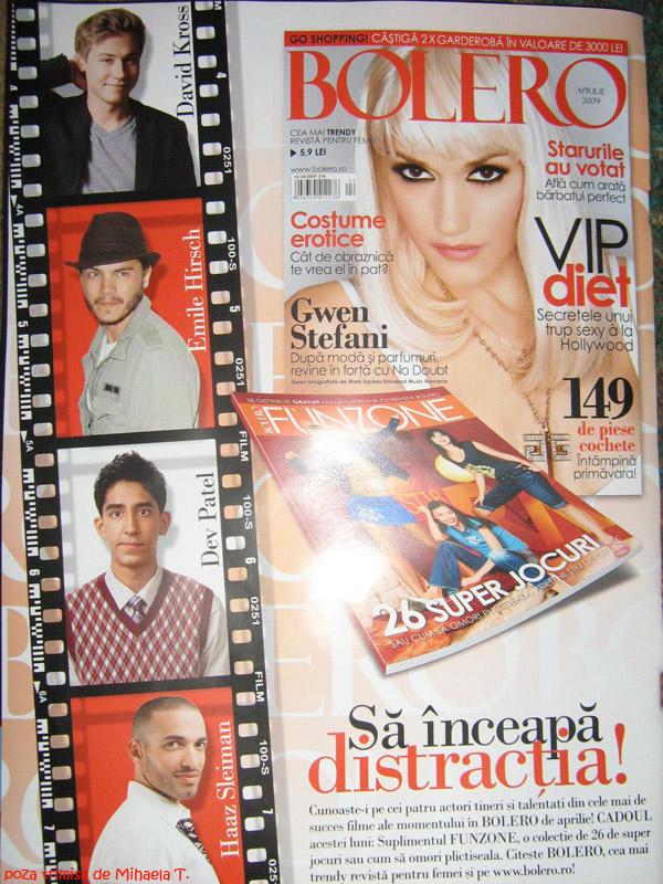 Bolero Romania :: Gwen Stefani :: Suplimentul FunZone :: Aprilie 2009