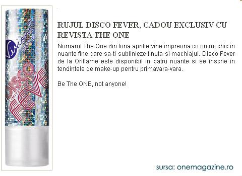 The One :: ruj Oriflame Disco Fever :: Aprilie 2009