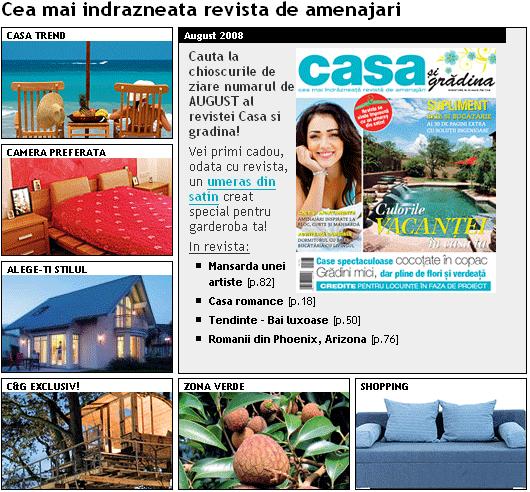 Promo revista Casa si Gradina, August 2008