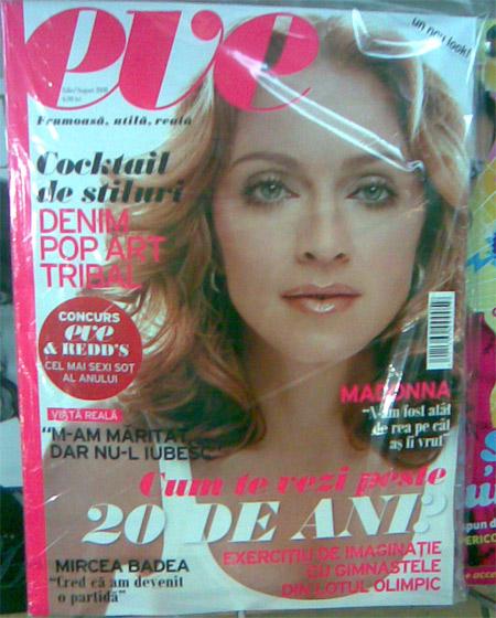 Coperta revistei EVE, August 2008