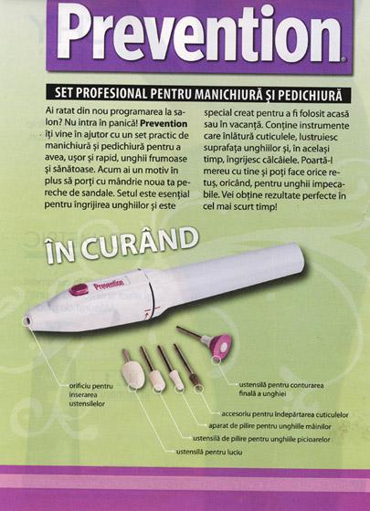 Promo cadou revista Prevention, August 2008