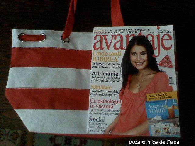 Geanta DUNGI MARINARESTI cadou la revista Avantaje :: August 2009