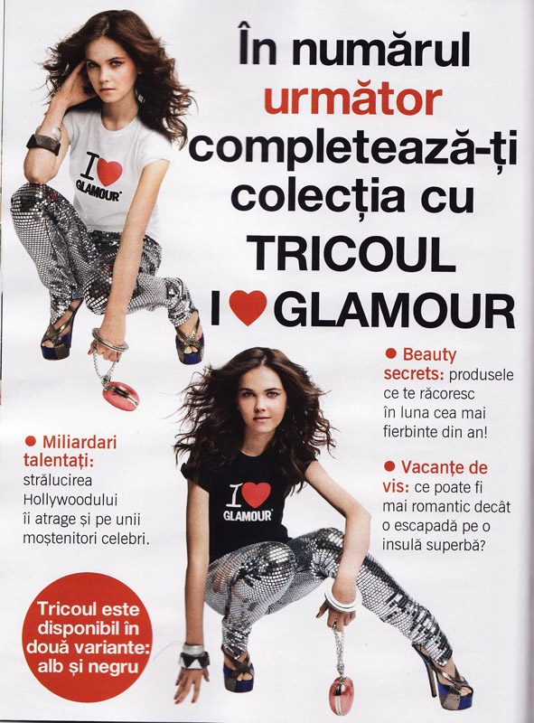 Glamour :: Promo Tricou I love Glamour :: August 2009