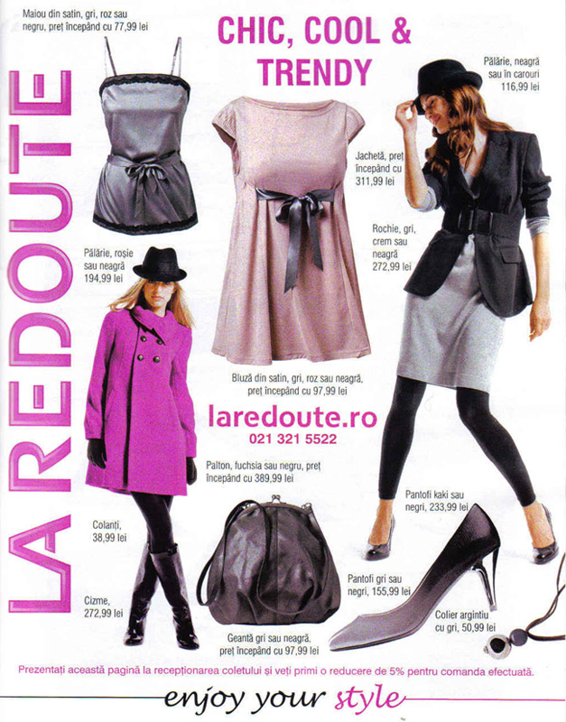 Promo laredoute.ro in revista Look! Romania, Decembrie 2008