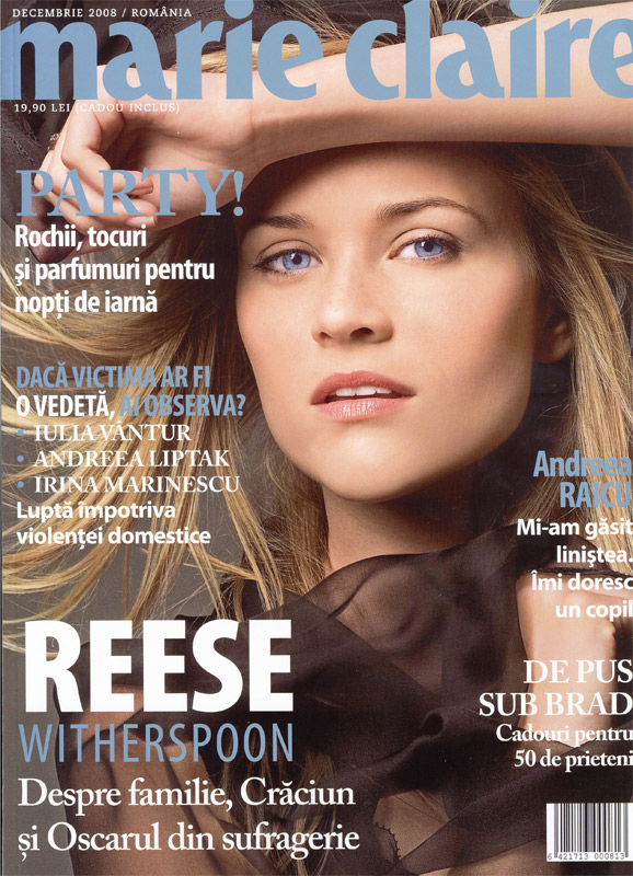 Coperta revistei Marie Claire Romania, Decembrie 2008 (Coperta: Reese Witherspoon)