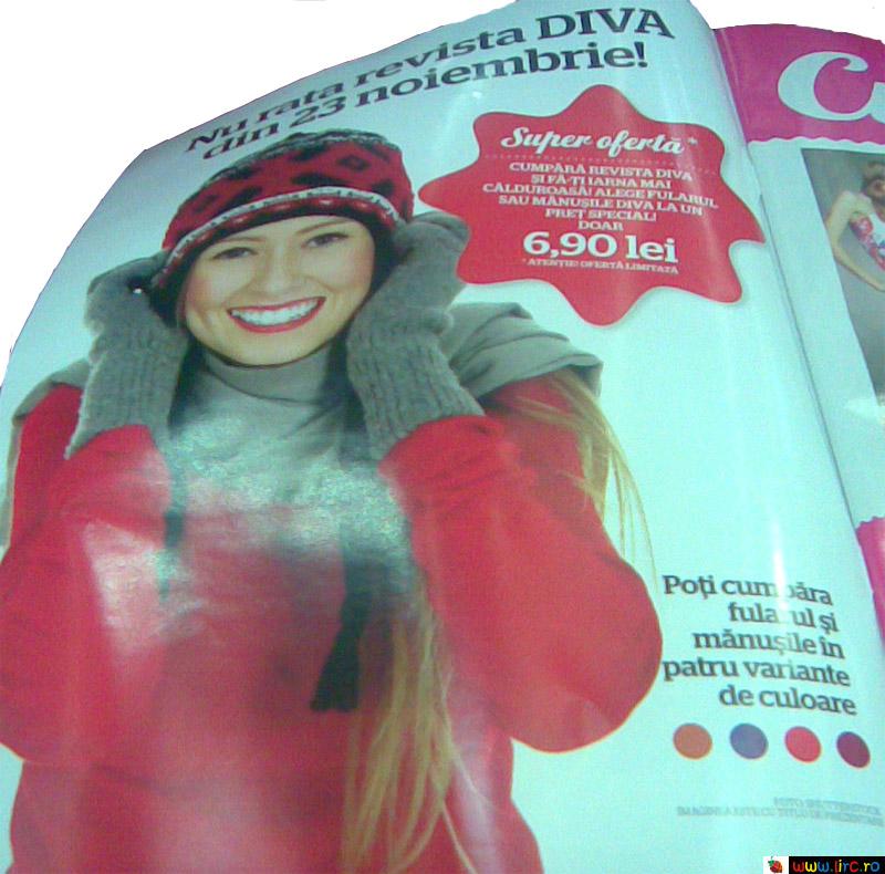 Diva ~~ Promo cadou manusi sau fular, diverse culori ~~ 23 Noiembrie 2009