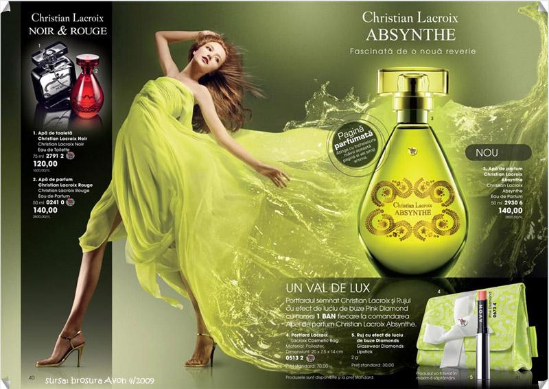Christian Lacroix Absynthe Eau de Parfum, Avon Catalog no. 4/2009