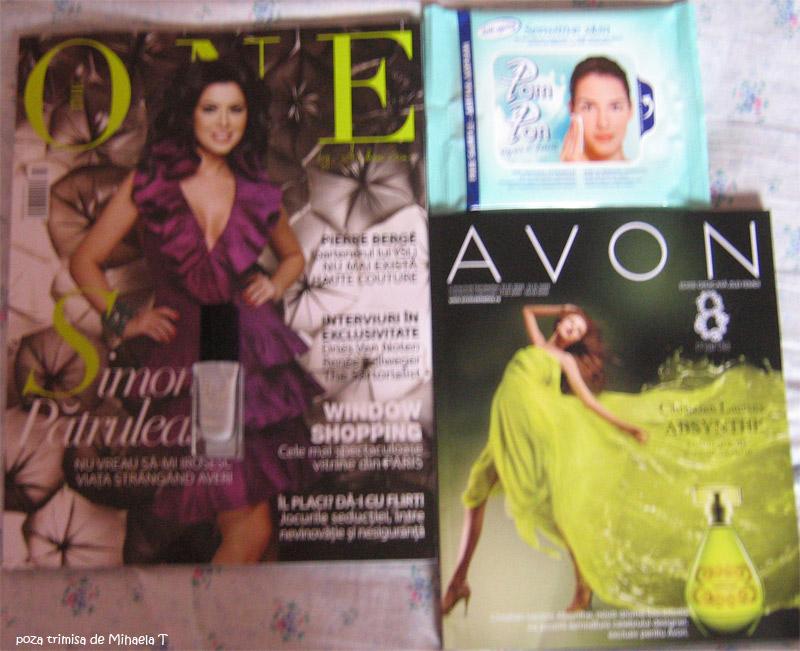The One :: Simona Patruleasa :: Oja Peggy Sage + Catalog Avon 3/2009 + Servetele demachiante Pom Pon :: Februarie 2009