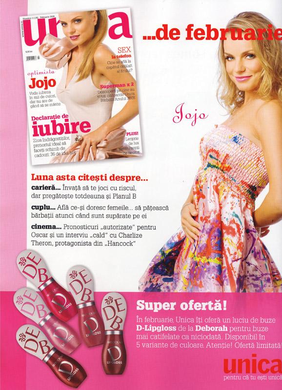 Unica :: Februarie 2009 :: Jojo :: Gloss de buze Deborah D-Gloss