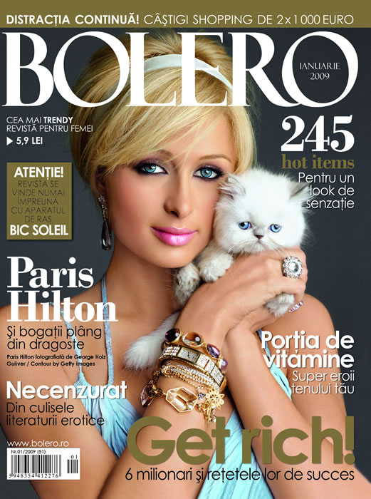 Bolero Romania :: Ianuarie 2009 :: Paris Hilton