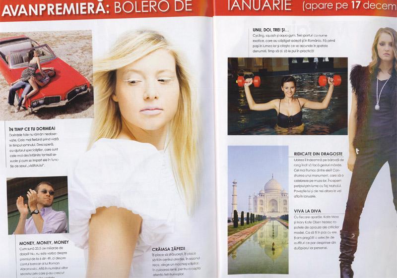 Bolero Romania :: Ianuarie 2009 :: Promo
