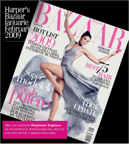 Harper´s Bazaar România :: Ianuarie-Februarie 2009 :: Stephanie Seymour
