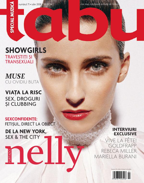 Coperta revistei Tabu, Iulie 2008