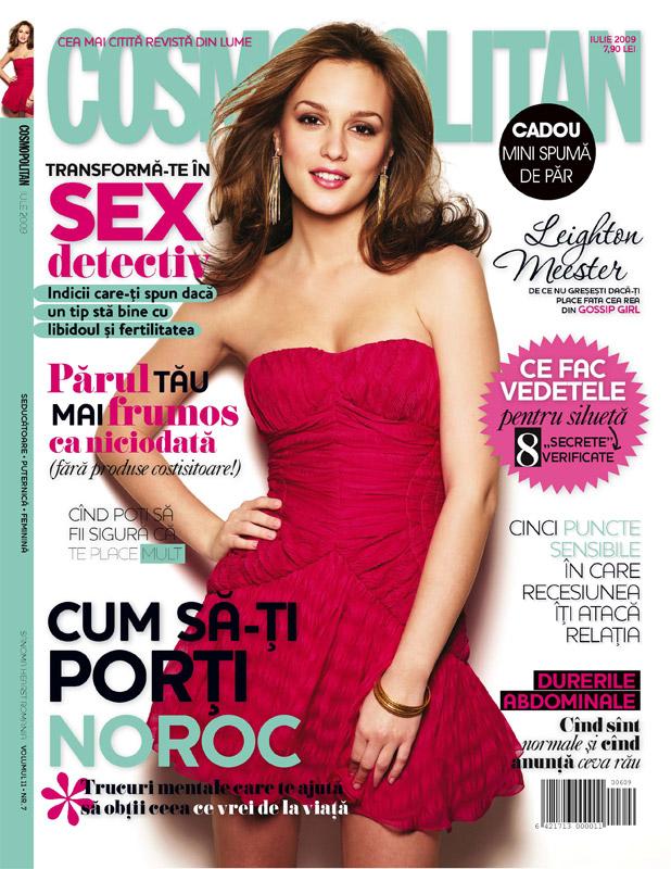 Cosmopolitan Romania :: Leighton Meester :: Iulie 2009