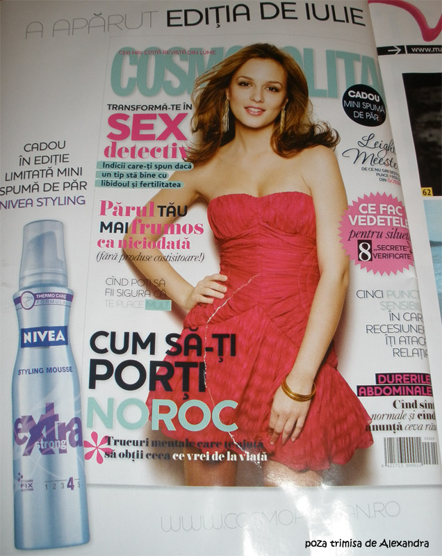Cosmopolitan :: Promo Spuma de par Nivea Styling:: Iulie 2009