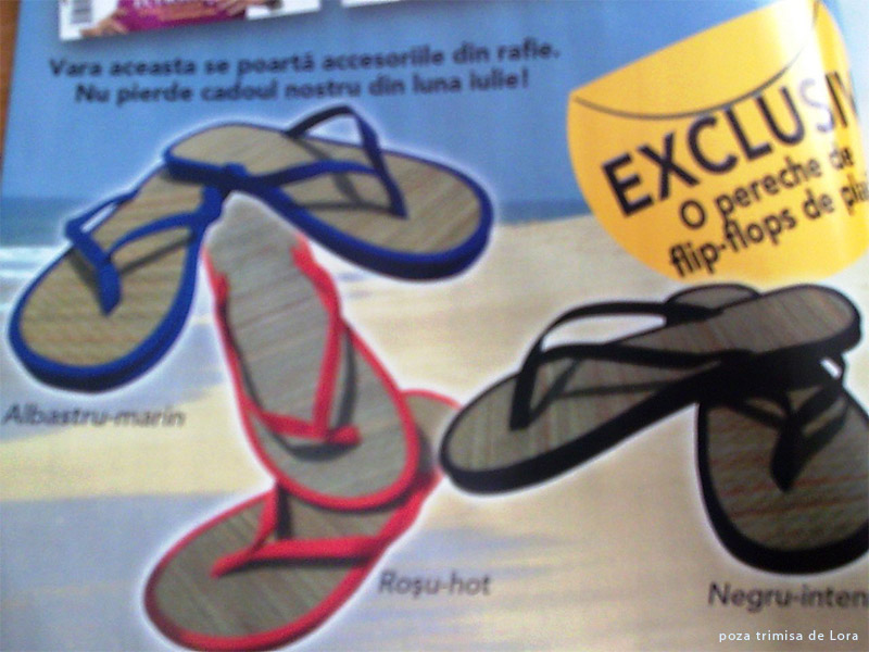 InStyle :: Promo flip-flops din rafie, 3 variante de culoare :: Iulie 2009