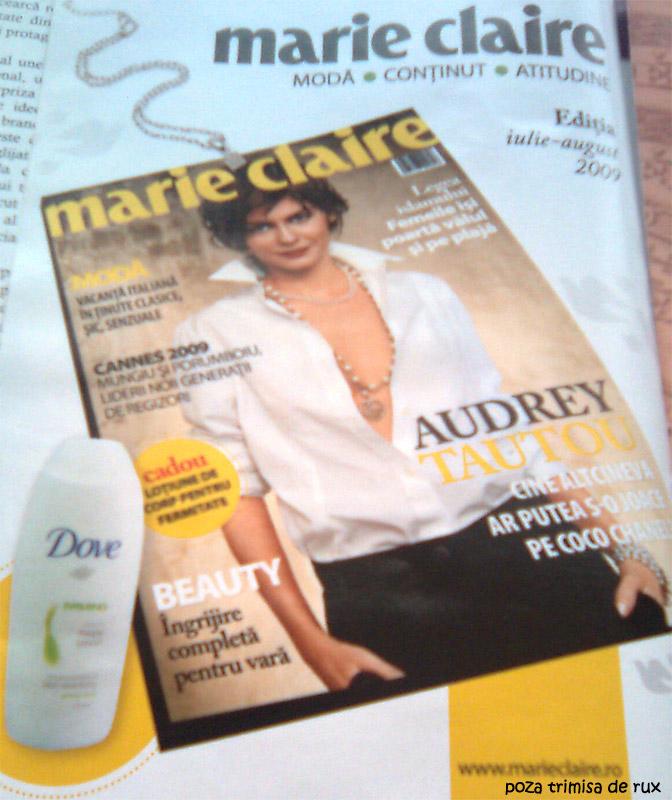 Marie Claire :: Audrey Tautou :: Dove Firming :: Iulie-Augsut 2009