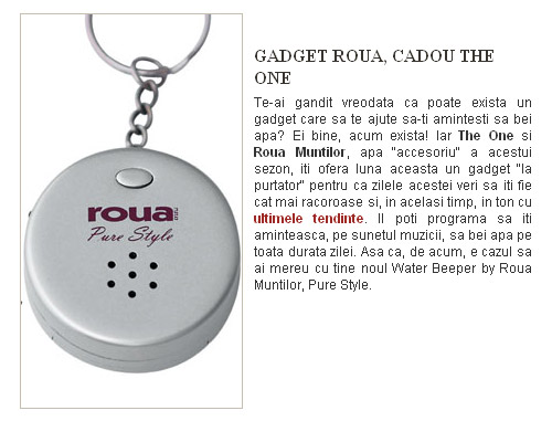 The One :: Water Beeper by Roua Muntilor, Pure Style :: Iulie 2009