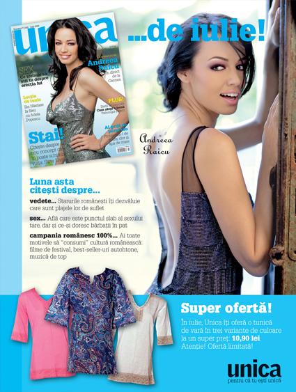 Promo Unica :: Andreea Raicu :: Tunica in stil etno :: Iulie 2009