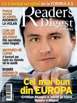 Coperta revistei Reader\'s Digest, Iunie 2008