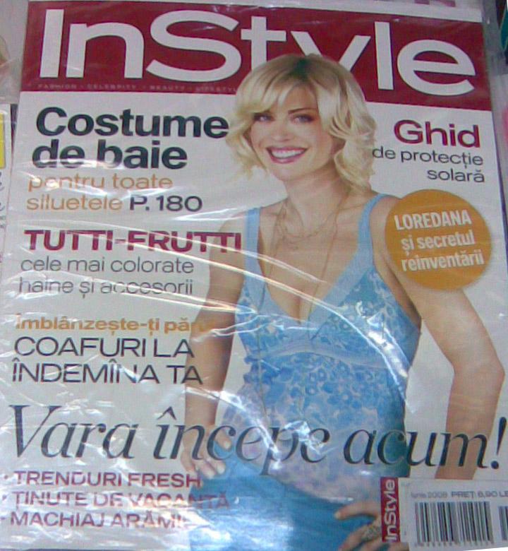 Coperta revistei In Style, Iunie 2008