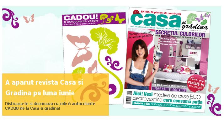 Casa si Gradina :: Cadou 6 autocolante pentru decorare :: Iunie 2009