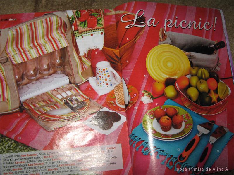 Idei de picnic in revista Look!, Mai 2009