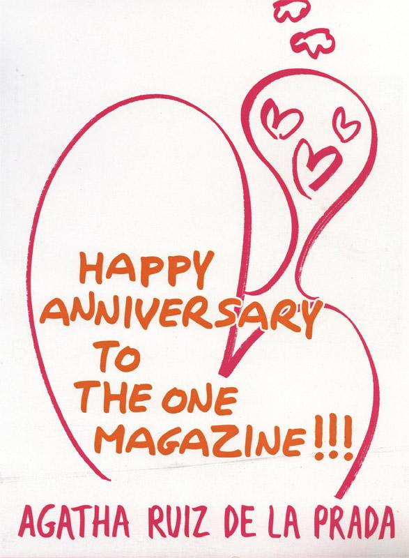 La multi ani!, The One la 3 ani :: Mesaj de la Agatha Ruiz de la Prada :: Mai 2009