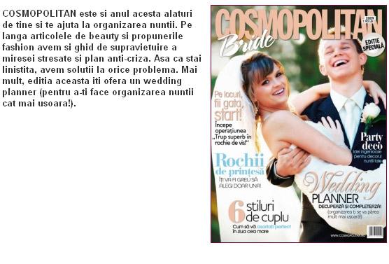 Cosmopolitan Bride 2009, supliment anual al revistei Cosmopolitan Romania