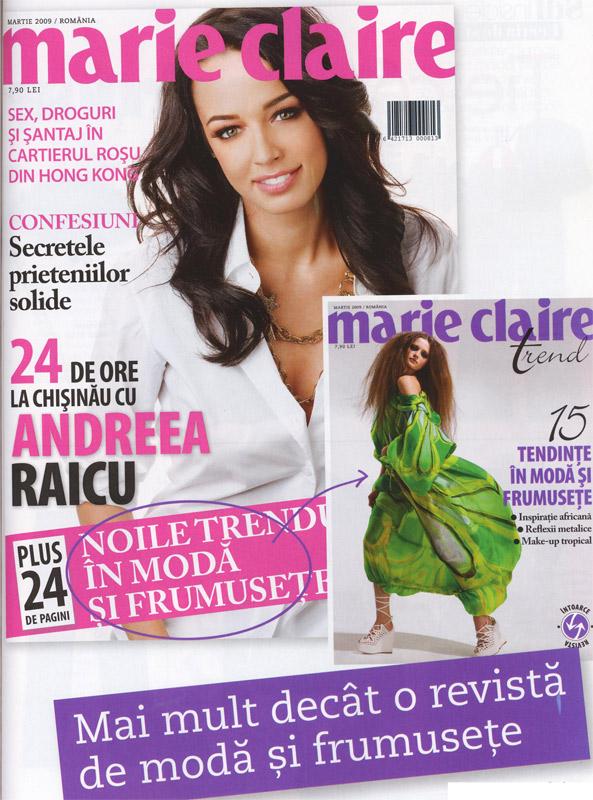 Marie Claire Romania :: Andreea Raicu :: Supliment de tendinte in moda si frumusete :: Martie 2009